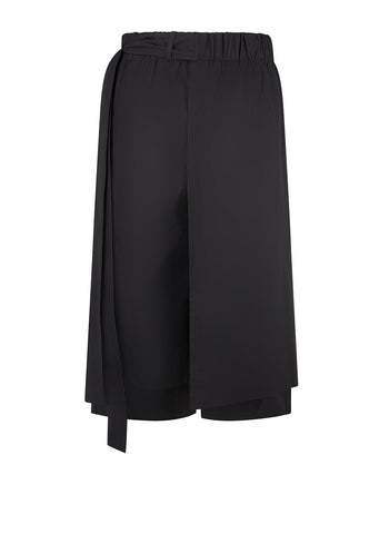 SS18 Layered Track Shorts in Black