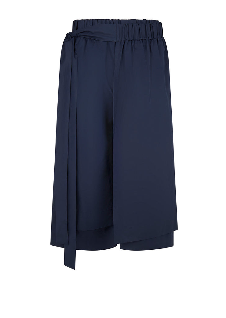 Layered Track Shorts in Navy