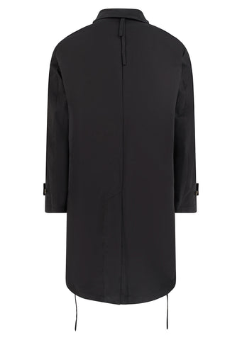 Slim Long Coat in Black