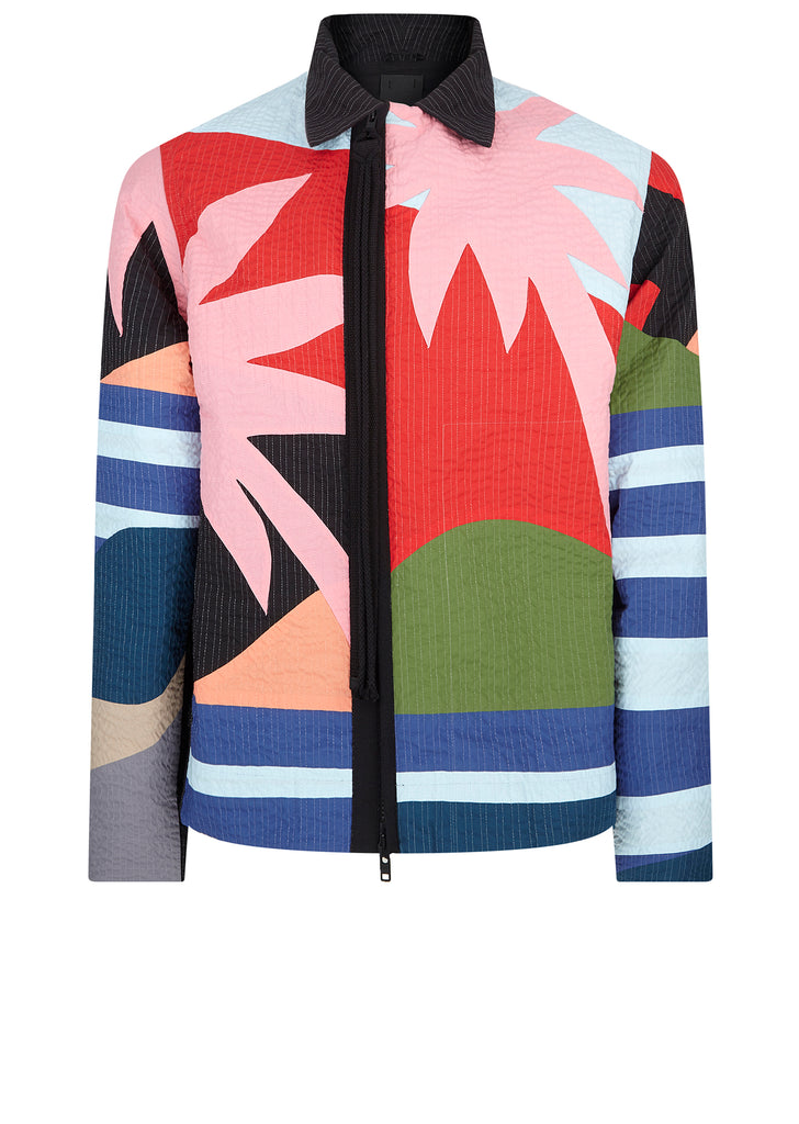 Acid Desert Island Quilted Holiday Jacket in Multi