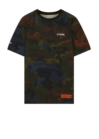 Camo Jersey T-Shirt in Green
