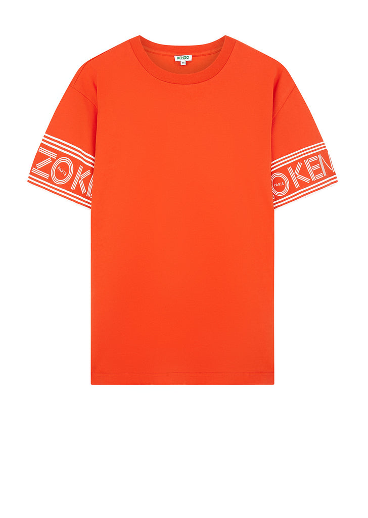 Sleeve Logo Crew Neck T-Shirt in Red