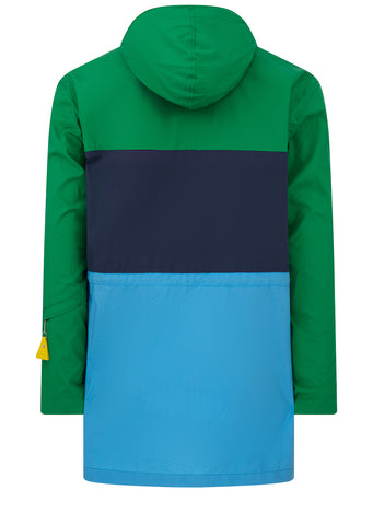 Hyper Kenzo Colourblock Parka in Grass Green