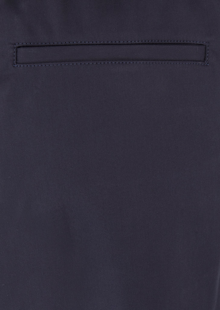 Relaxed Cotton Trousers in Navy Blue