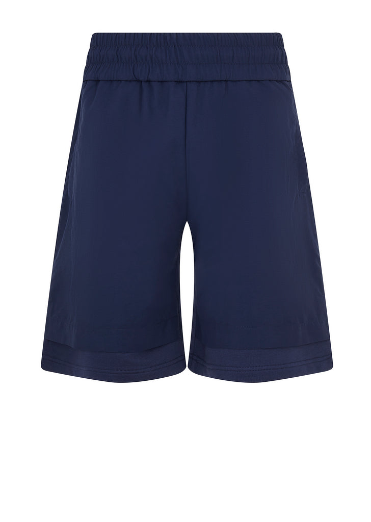 Nylon Fleece Shorts in Navy Blue