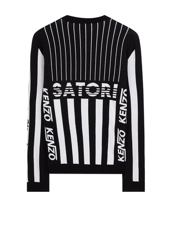 Hyper KENZO Stripe Jumper in Black/White