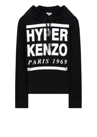 Hyper Kenzo Hooded Sweatshirt in Black