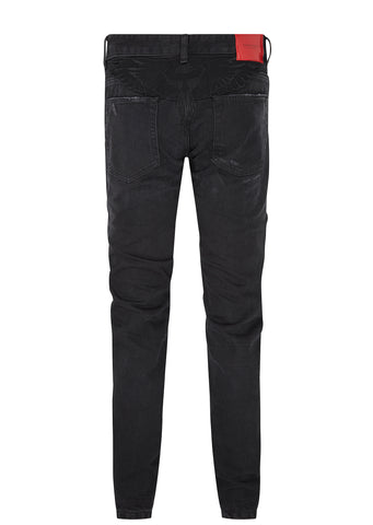 Black Wing Slim Fit Jeans in Black