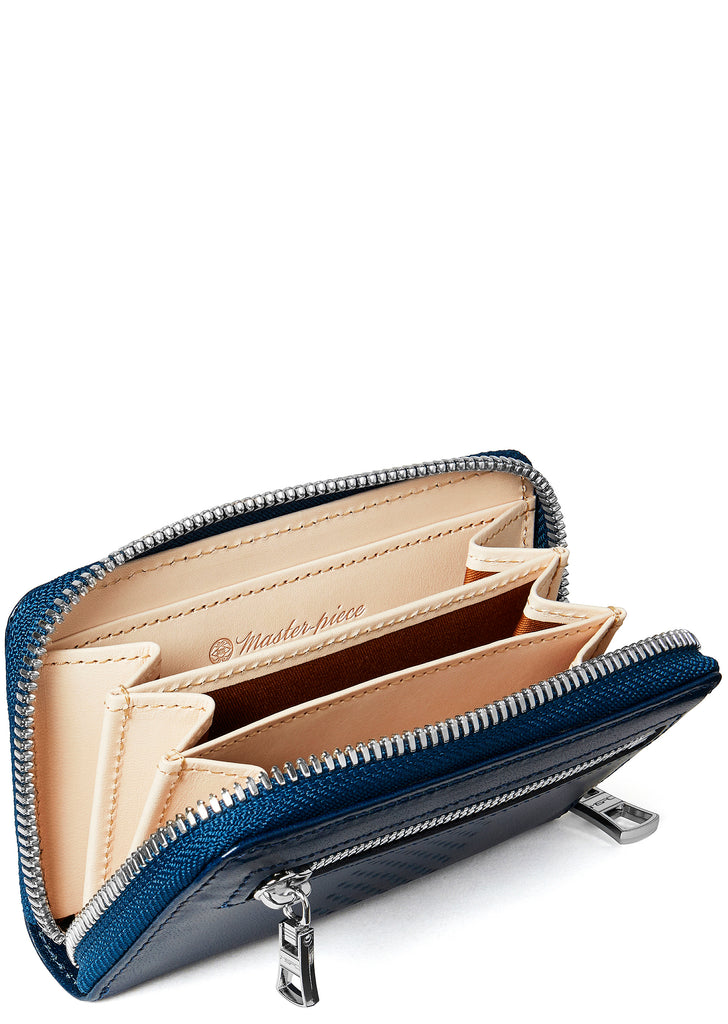 Vand Leather Wallet in Navy