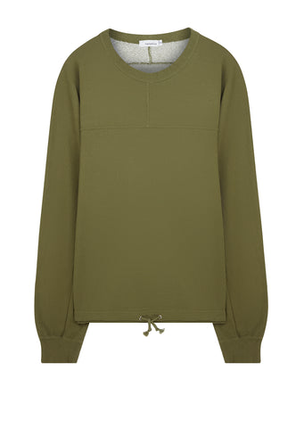 Crew Neck Sweatshirt in Khaki
