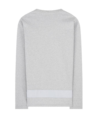 Panel Long Sleeve T-Shirt in Heather Grey