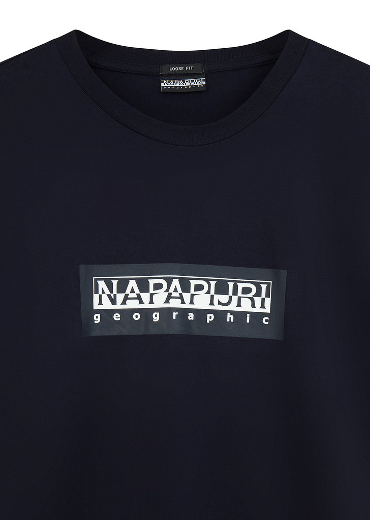 Simbai Box Logo T-Shirt in Dark Blue