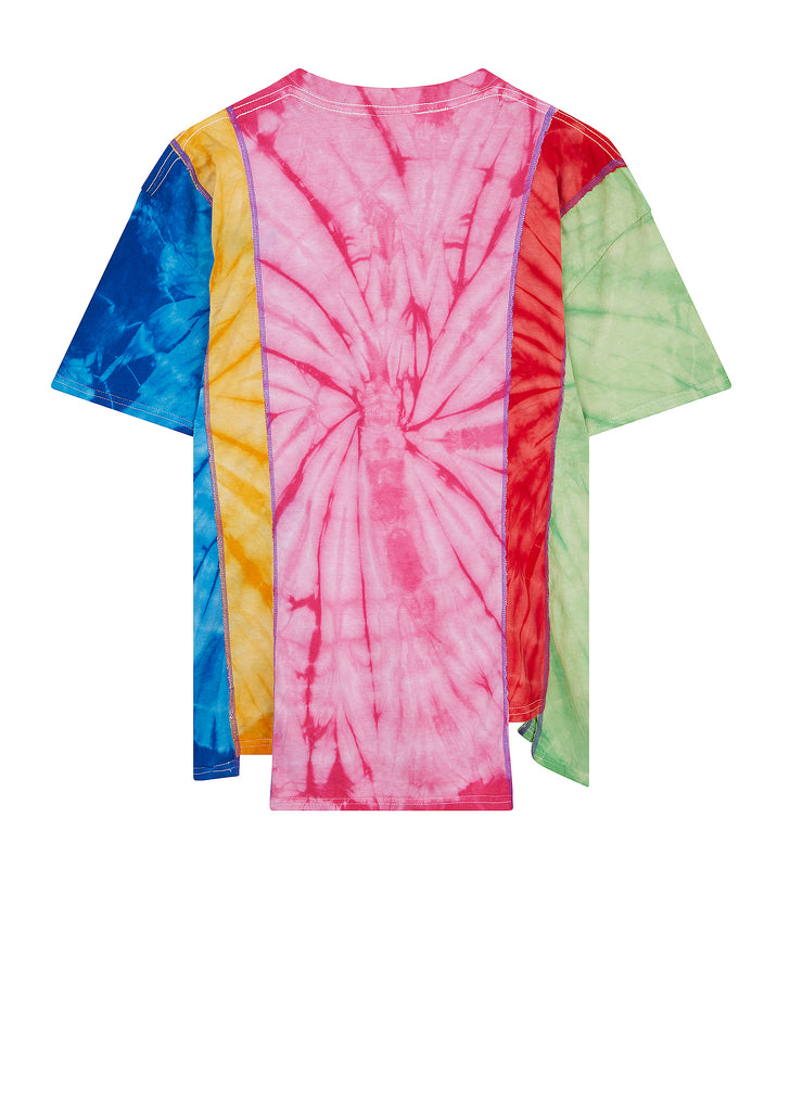 Rebuild 5 Cuts Tie Dye T-Shirt in Multi