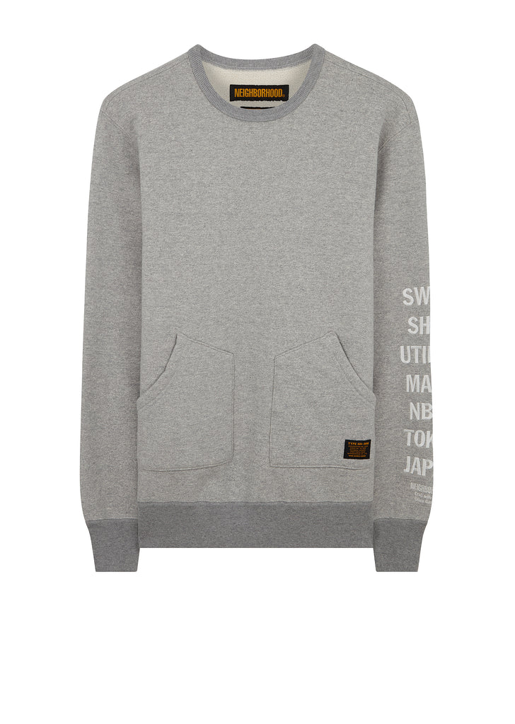 Tactical Long Sleeve C-Crew Sweatshirt in Grey
