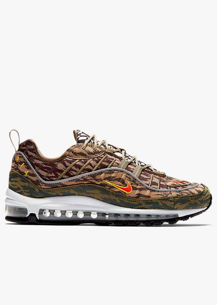 Air Max 98 AOP in Khaki/Team Orange-Medium Olive