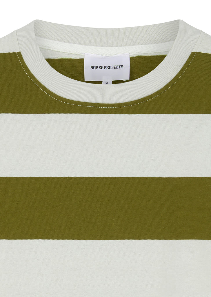 Johannes Wide Stripe T-Shirt in Warm Brass