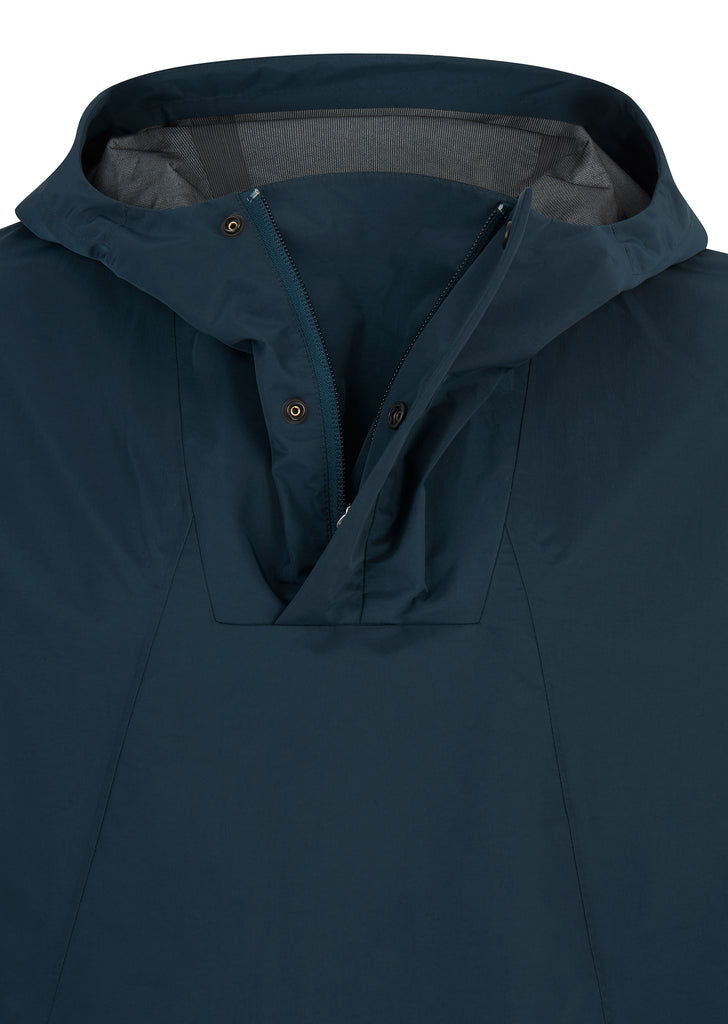 Ribe Crisp Hooded Jacket in Aluminium Petrol