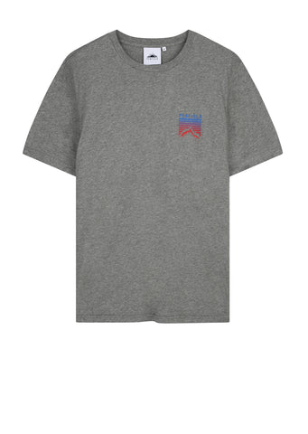Caputo Short Sleeve Print T-Shirt in Grey