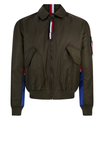 Nylon Flight Jacket in Khaki