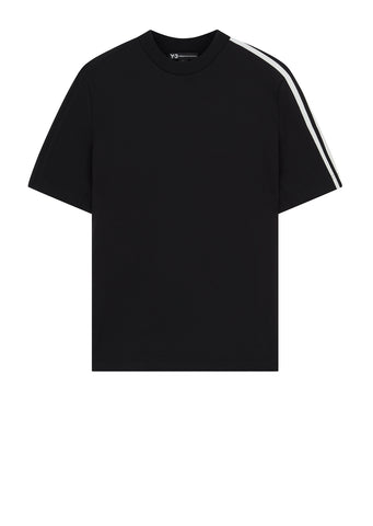 3-Stripe Short Sleeve Sweatshirt in Black