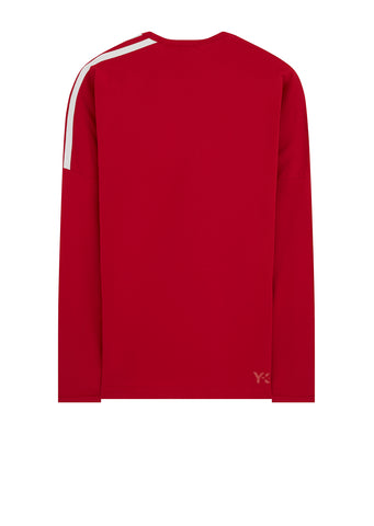 3-Stripe Long Sleeve T-Shirt in Red