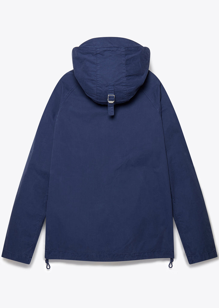Zipped Hooded Parka in Navy