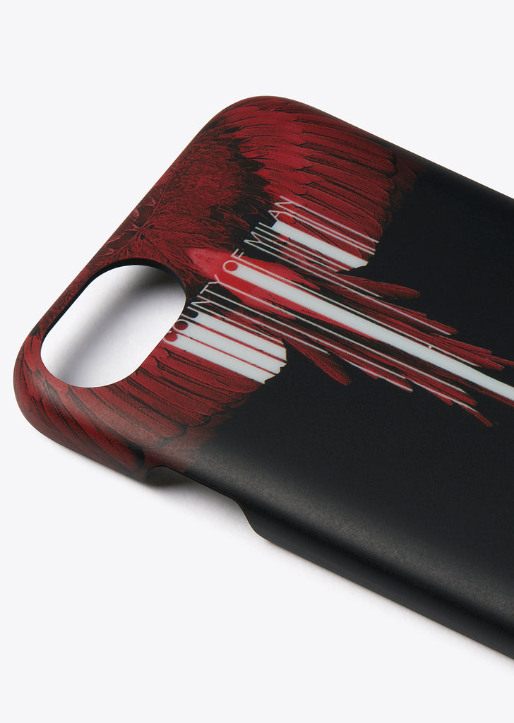 Wings Barcode iPhone 8 Case In Black