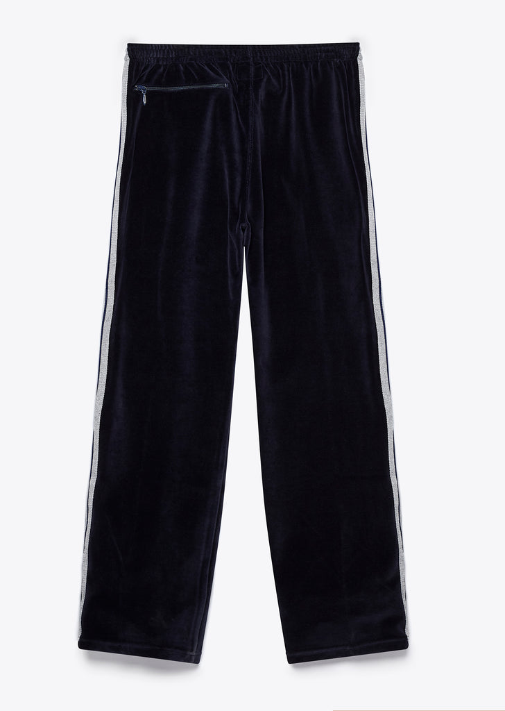 Velour Track Pant in Black