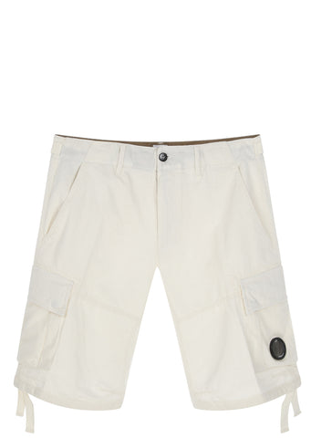 SS17 Goggle Pocket Shorts in White