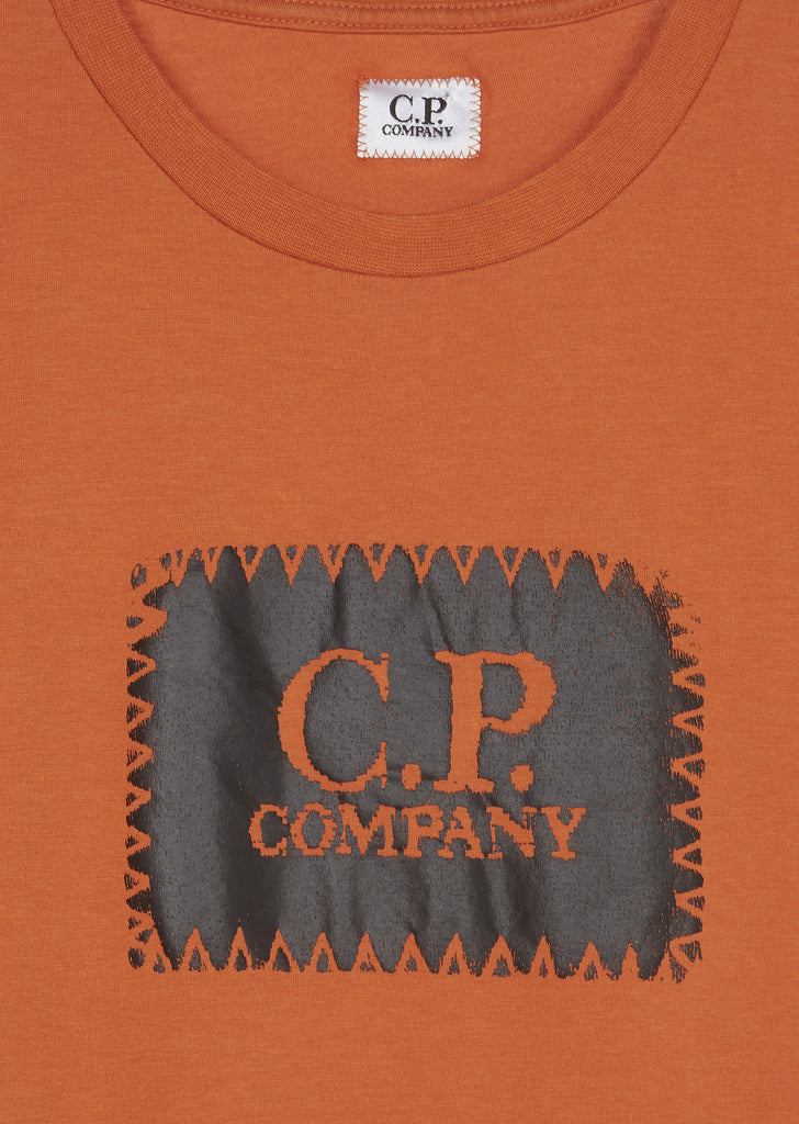 SS17 Stitch Logo T-shirt in Orange