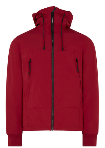 SS17 C.P. Shell Goggle Zip Hooded Jacket in Red