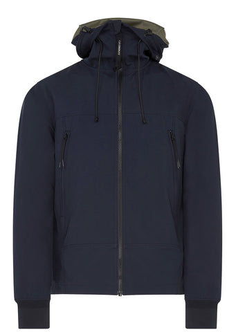SS17 C.P. Shell Goggle Zip Hooded Jacket in Navy