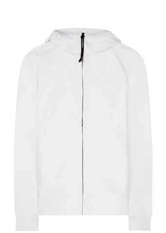 SS17 Fleece Goggle Hoodie in White