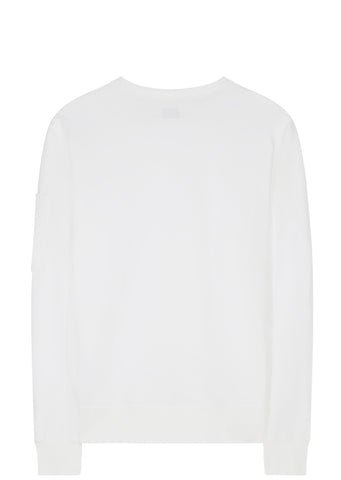 SS17 Fleece Long Sleeve Sweatshirt in White