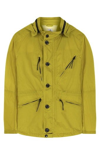 SS17 Hooded Goggle Jacket in Yellow