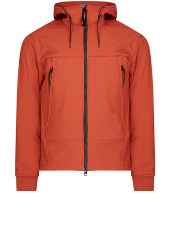 AW17 Soft Shell full zip hooded short jacket in orange