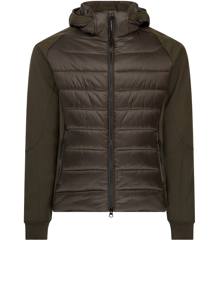 Quilted Shell Goggle Jacket in Khaki