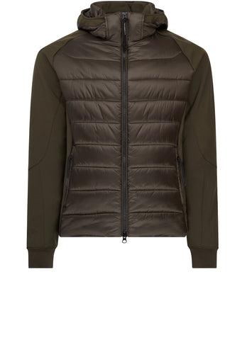 AW17 Quilted Shell Goggle Jacket in Khaki