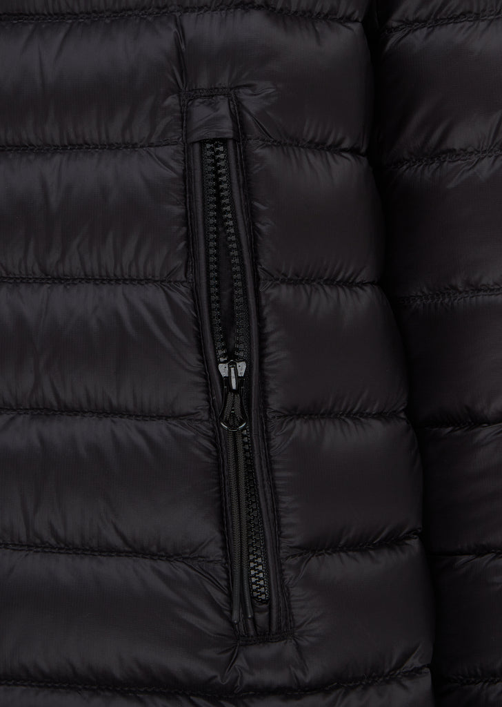 Goggle Down Jacket in Black