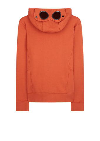 AW17 Hooded Goggle Zip Sweat in Orange