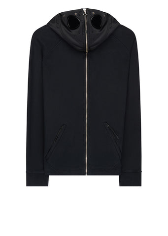 AW17 Heavy Fleece Explorer Hoody in Black