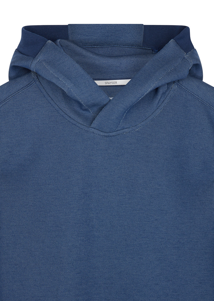 AW17 Tubular Fleece Lens Hoodie in Blue