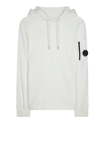 AW17 Light Fleece Hooded Sweatshirt in White