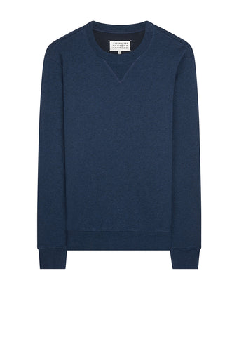 AW17 Classic Elbow-Patch Sweatshirt in Navy