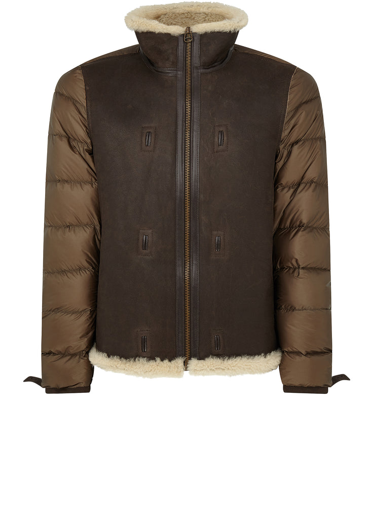AW17 Shearling Hooded Liner in Brown