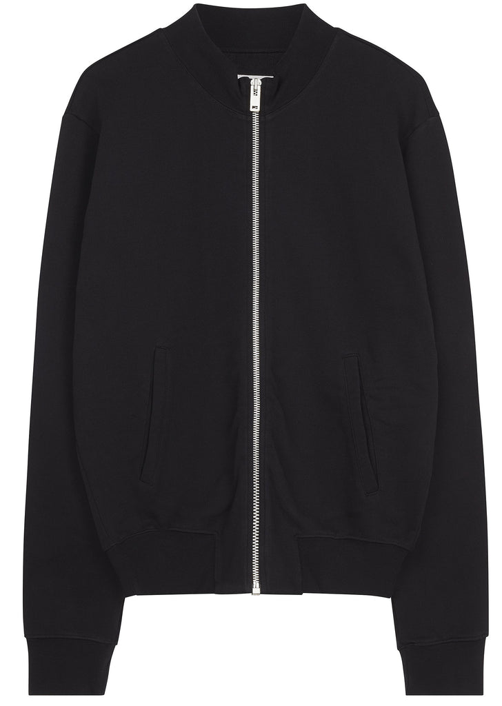 SS17 Elbow Patch Cotton Bomber in Black