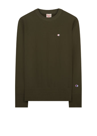 AW17 Classic Applique Crewneck Sweat in Green
