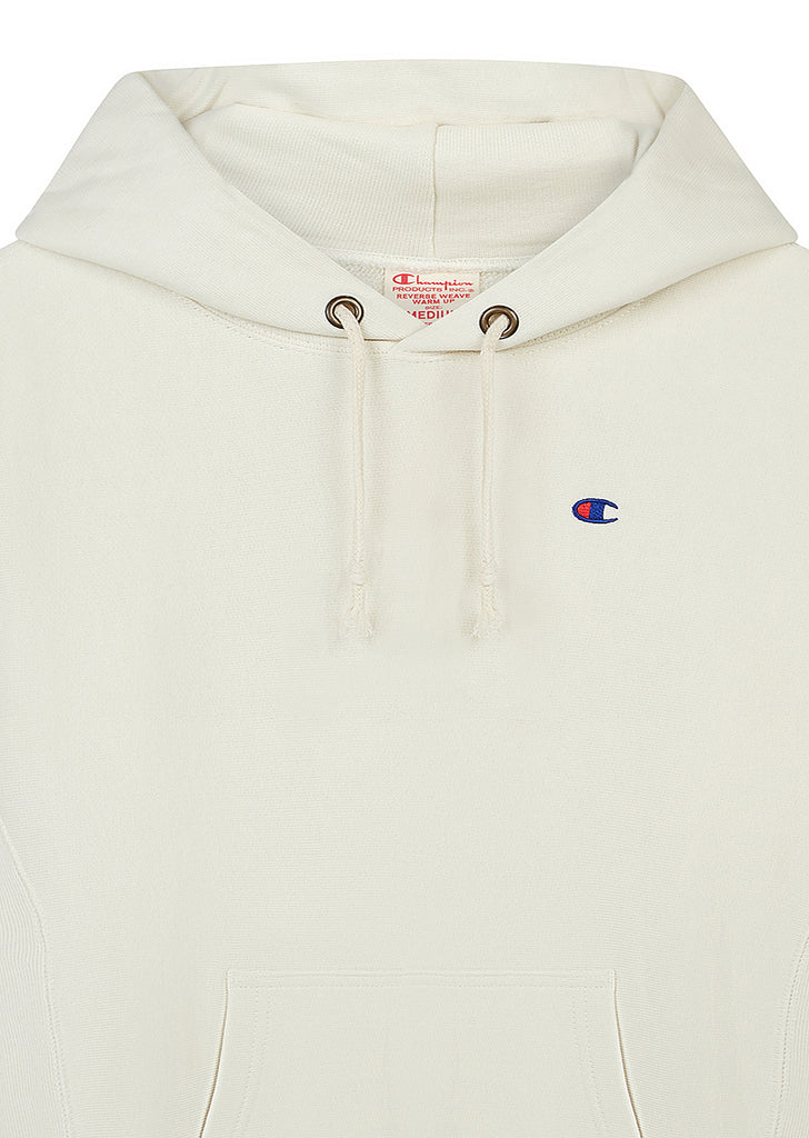 Classic Applique Hooded Sweat in White