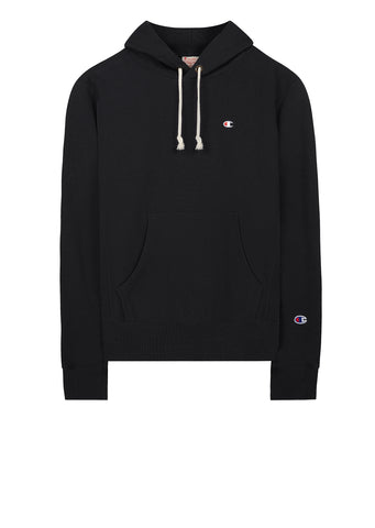 AW17 Classic Applique Hooded Sweat in Black