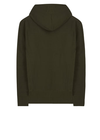 AW17 Classic Applique Hooded Sweat in Green
